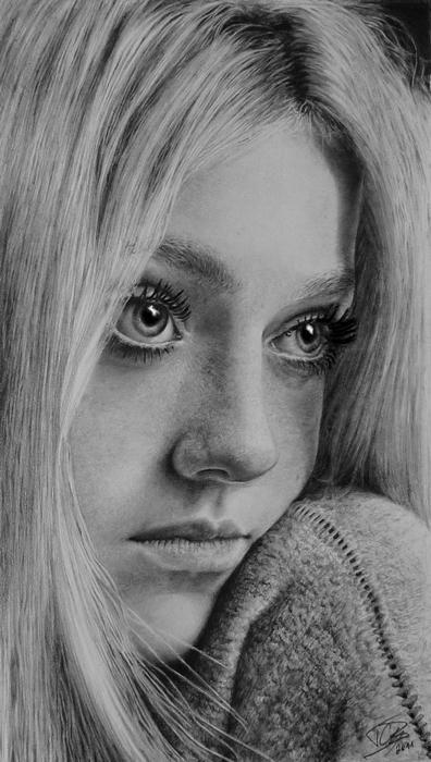 Dakota Fanning by Timon